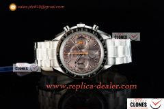 Omega Speedmaster Racing Master SS/SS Brown Clone Omega 9900 Auto (JH)