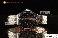 Omega Seamaster Diver 300m SS/SS Brown Clone 8800 Auto