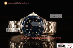 Omega Seamaster 300M Swiss ETA 2824 Automatic Steel Case With Blue Dial And Blue Ceramic Bezel